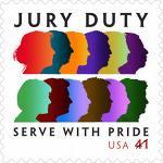 Juryduty stamp